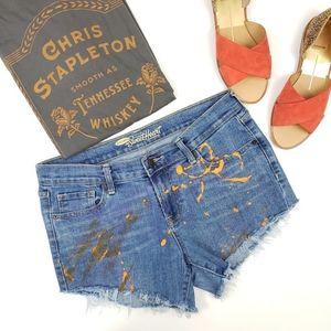 Custom Distressed Cutoff Denim Shorts